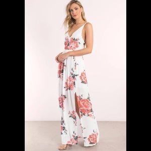 Tobi multi Rose print maxi dress | sz S